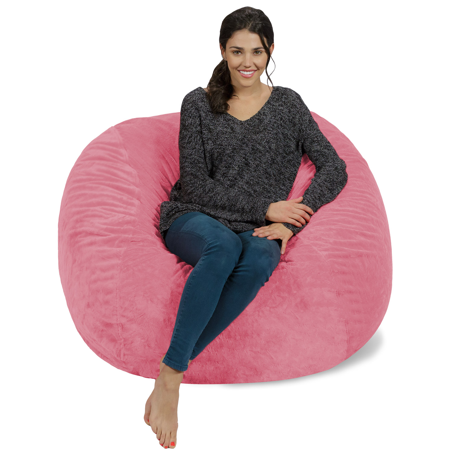 Foam Bean Bag Chair Memory Foam Bean Bag Chair 4 Ft Walmart