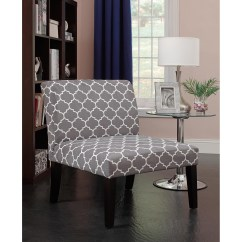 Grey And White Accent Chair Folding Beach Chairs Uk Emily Gray Pattern Walmart Com Departments
