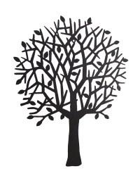 Dark Brown Tree Silhouette Decorative Metal Wall Hanging ...