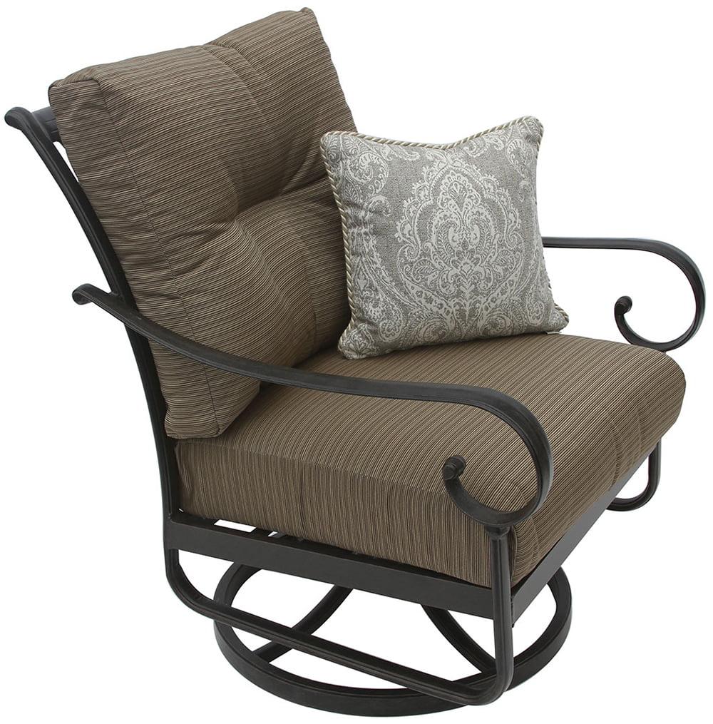 patio swivel rocker chairs chiavari chair rental tampa tortuga aluminum outdoor club with cushion