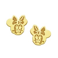 Disney's Minnie Mouse Stud Earrings in 14kt Gold