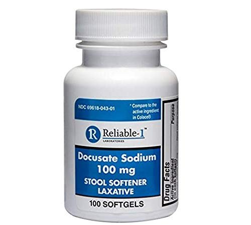 RELIABLE 1 LABORATORIES Docusate Sodium Stool Softener ...