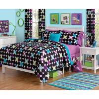 Your Zone Open Colorblock Dot Comforter - Walmart.com