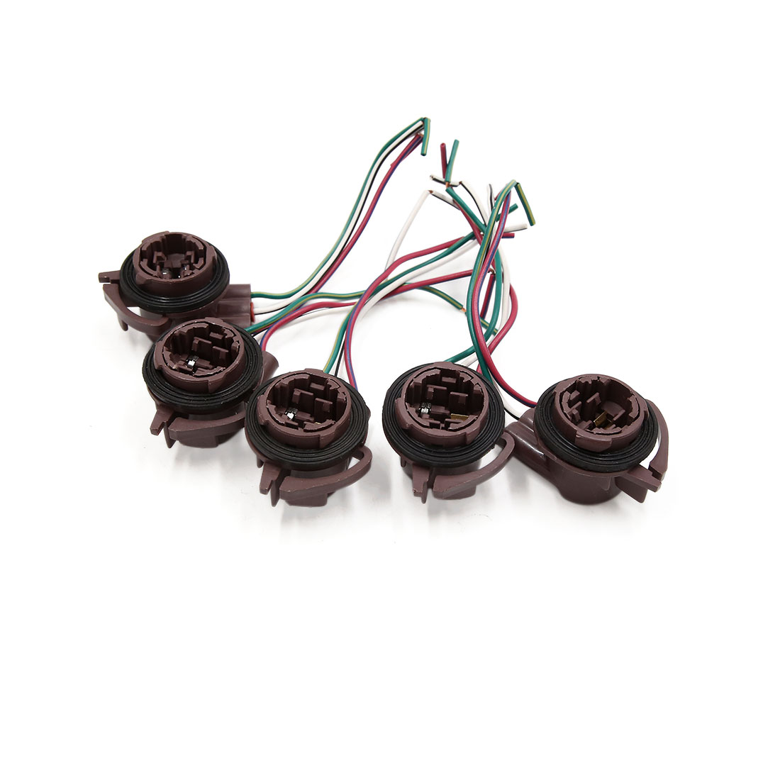 medium resolution of 5pcs 3157 3 wires car turn signal light lamp bulb wired harness socket connector walmart canada