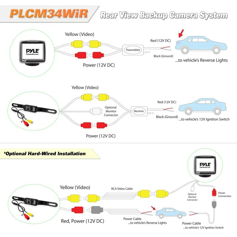 hight resolution of pyle wiring diagram wiring diagrams rear view camera system wireless boss rear view camera wiring diagram
