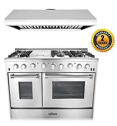 kitchen package semi custom cabinets thor 2 piece with 48 6 burner stainless steel gas range