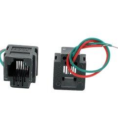 623k 6p2c rj11 female telephone network cable connector w 8cm wires 2pcs [ 1100 x 1100 Pixel ]