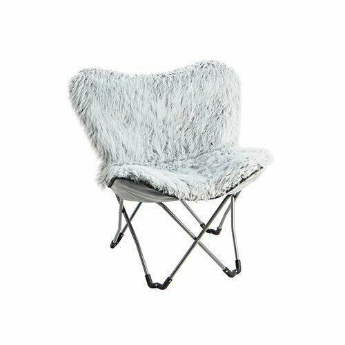 Lopp Fur Butterfly Chair  Walmartcom