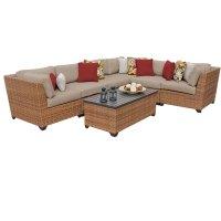Tuscan 7 Piece Outdoor Wicker Patio Furniture Set 07b ...