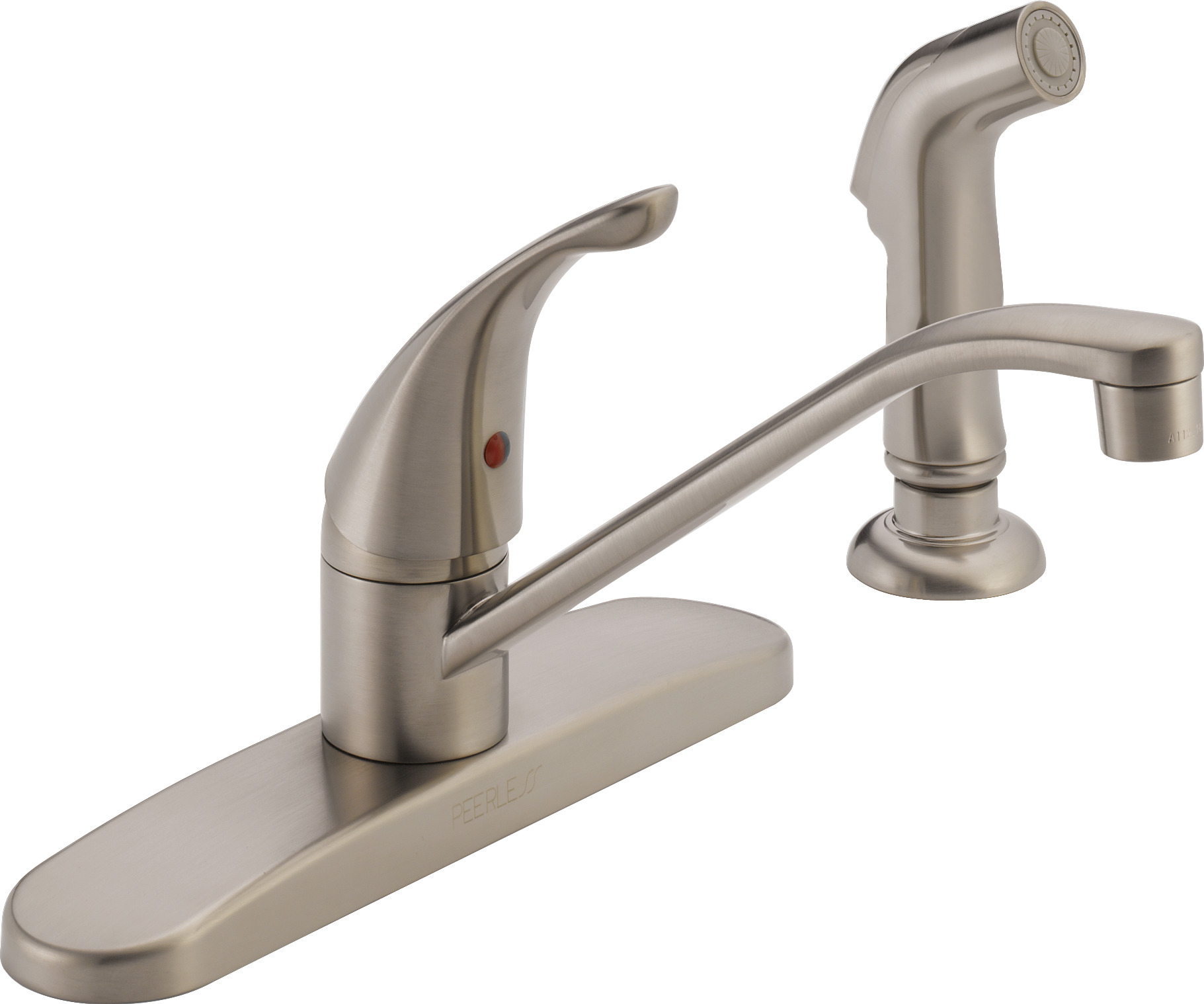 stainless kitchen faucet aid 600 peerless single handle side spray walmart com