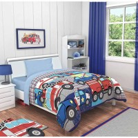 Idea Nuova Heroes At Work 3-Piece Toddler Bedding Set with ...