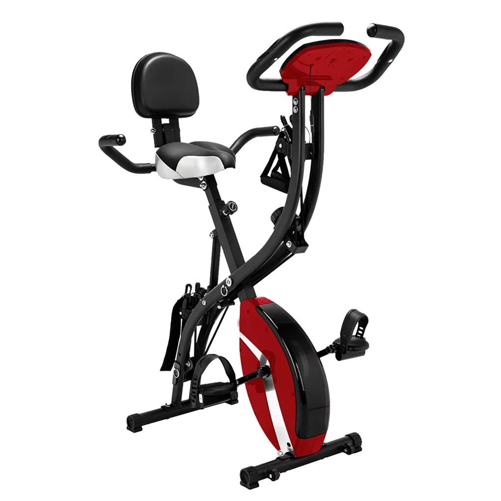 3 in 1 Folding Exercise Bike Indoor Adjustable Cardio ...