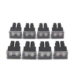 8pcs black plastic auto car push in type female pal cartridge fuse dc 32v 80a walmart com [ 1100 x 1100 Pixel ]