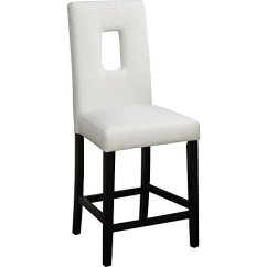 High Chair That Attaches To Counter Comfortable Chairs For Small Spaces Wooden With Cutout Back Set Of 2 Walmart Com