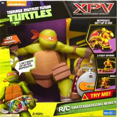 Ninja Turtle Chair Toys R Us Brown Office Chairs Without Arms Teenage Mutant Turtles Remote Control Skateboarding Mikey Walmart Exclusive Com