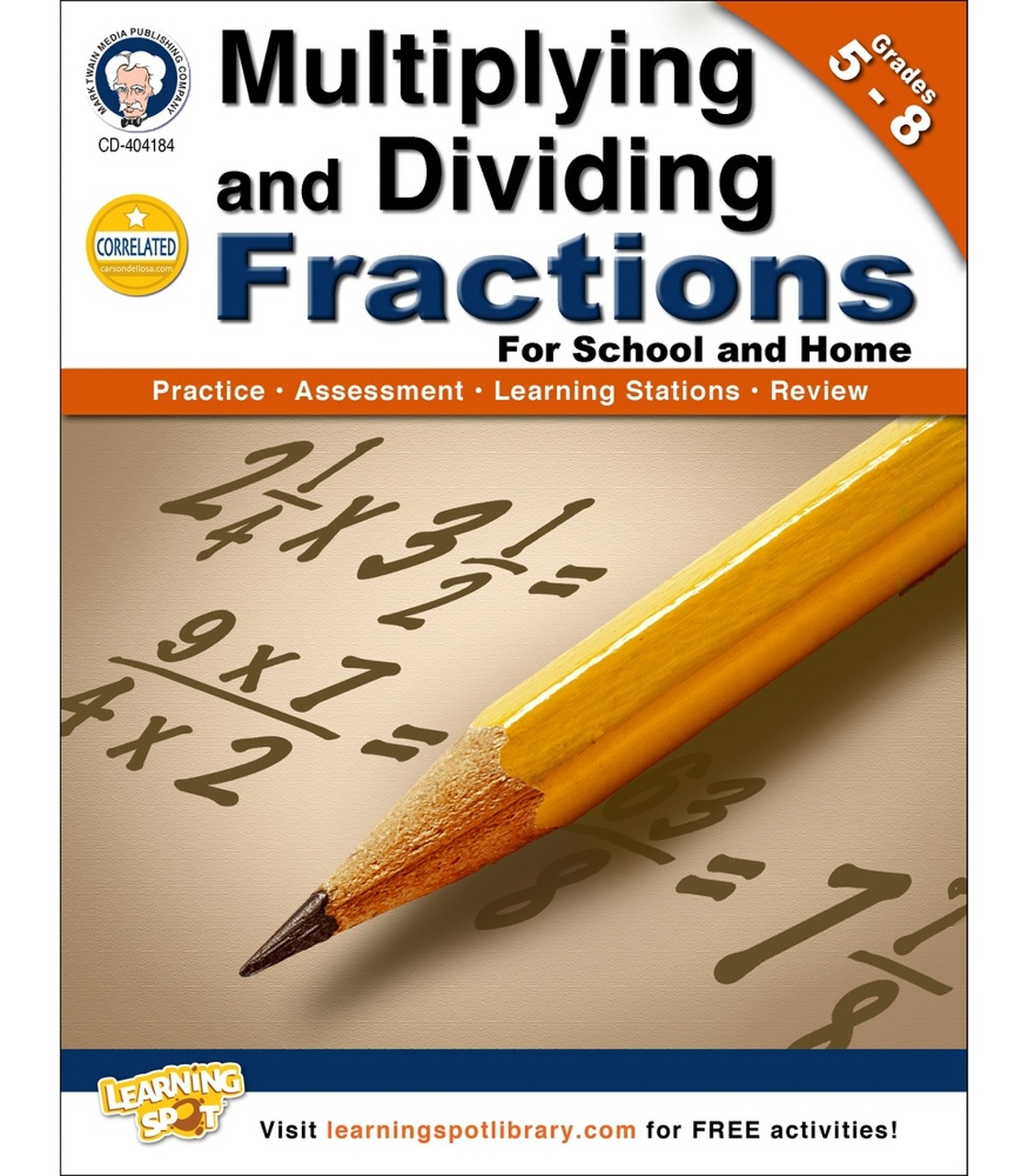 Multiplying And Dividing Fractions Workbook Grade 5 8