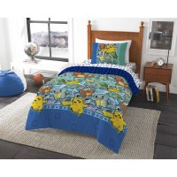 "Pokemon ""First Starters"" 4 Piece Twin Bed in a Bag Bedding ..."
