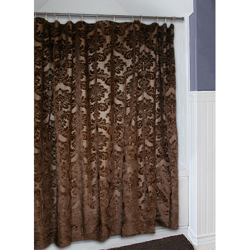 carstens gold rush brown sheer shower curtain