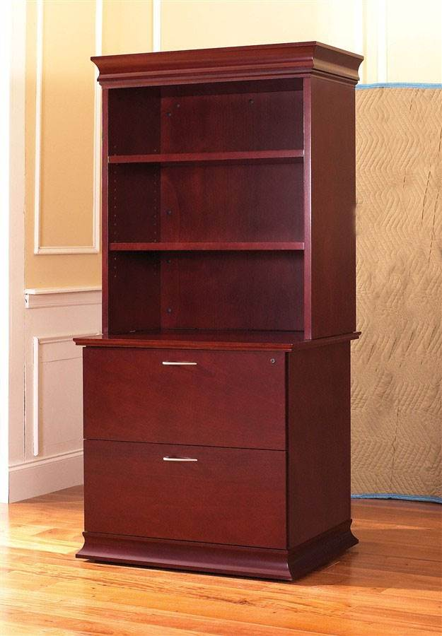 Westboro Bookcase Lateral File Cabinet w Hutch Rouge