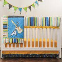 Pam Grace Creations Rockstar 10 Piece Crib Bedding Set