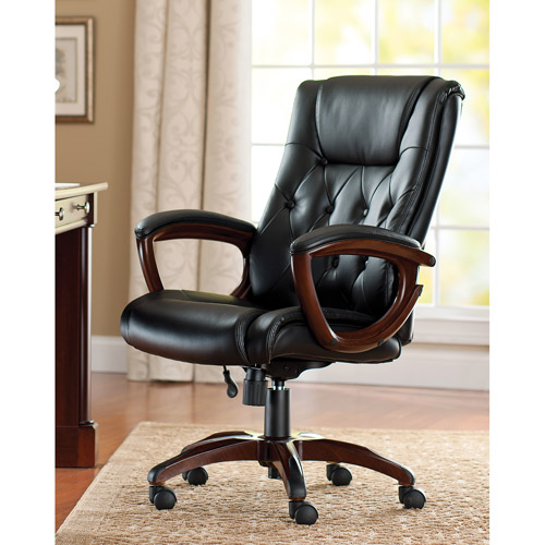 executive leather office chairs Better Homes and Gardens Bonded Leather Executive Office Chair - Walmart.com