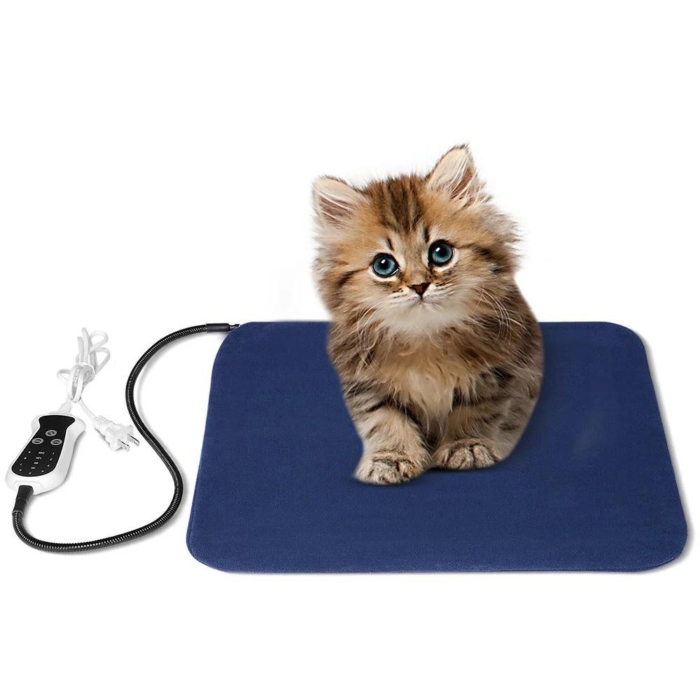 coussin chauffant pour animaux de compagnie tapis chauffant pour chien et chat a temperature reglable 18 x 18 pouces