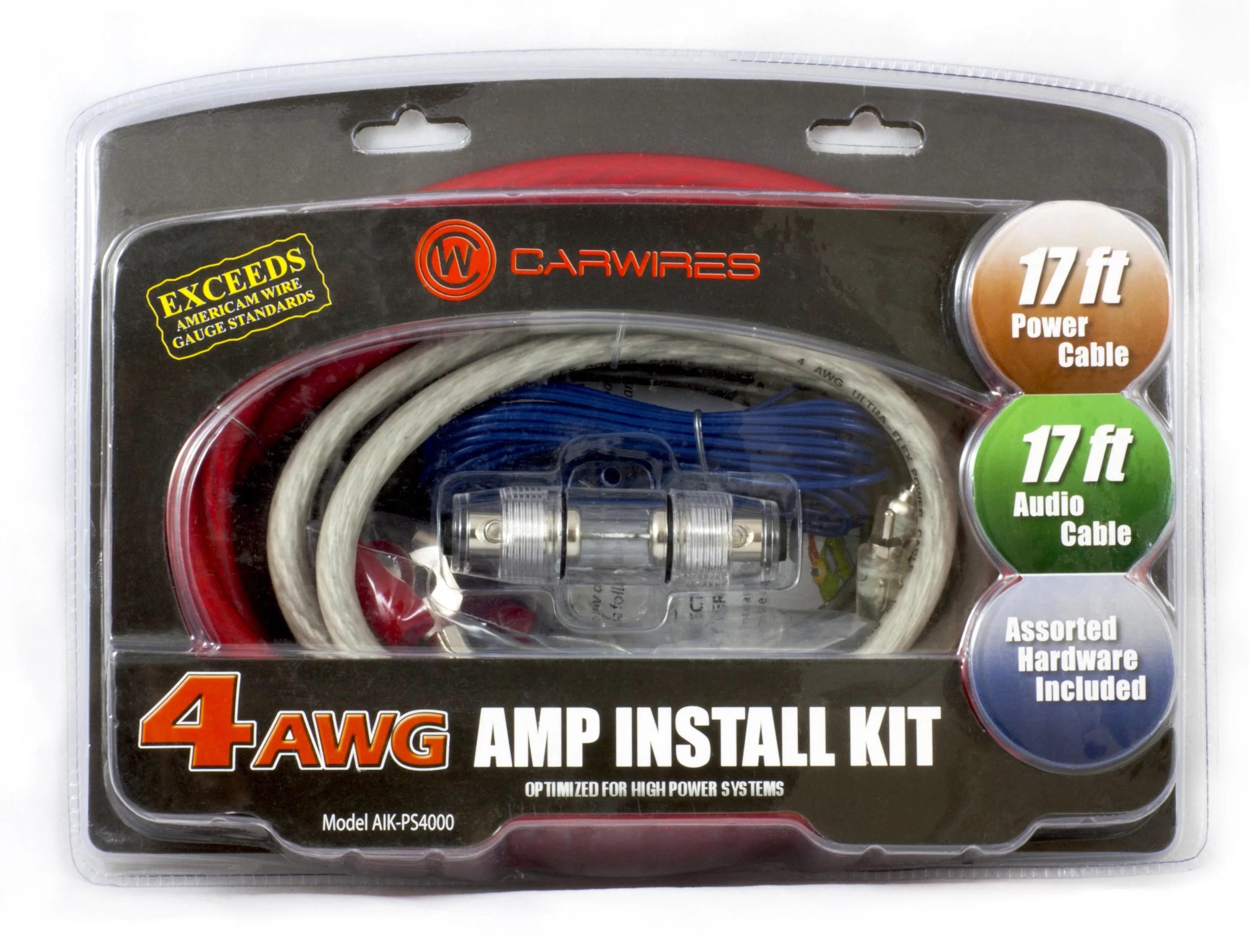 hight resolution of carwires aik ps4000 4 awg amplifier wiring kit walmart com car audio wiring kit walmart