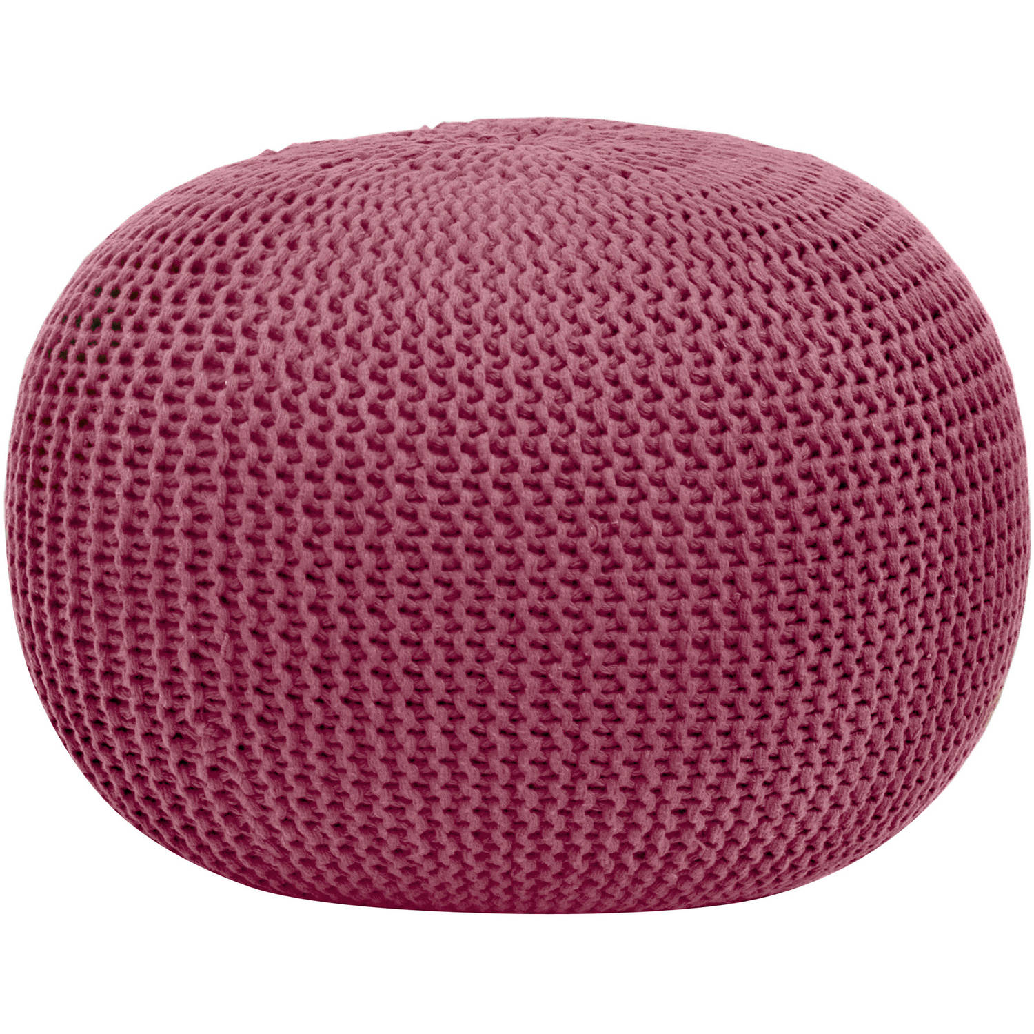 Urban Shop Round Knit Pouf Stool Poof Floor Cover Decor