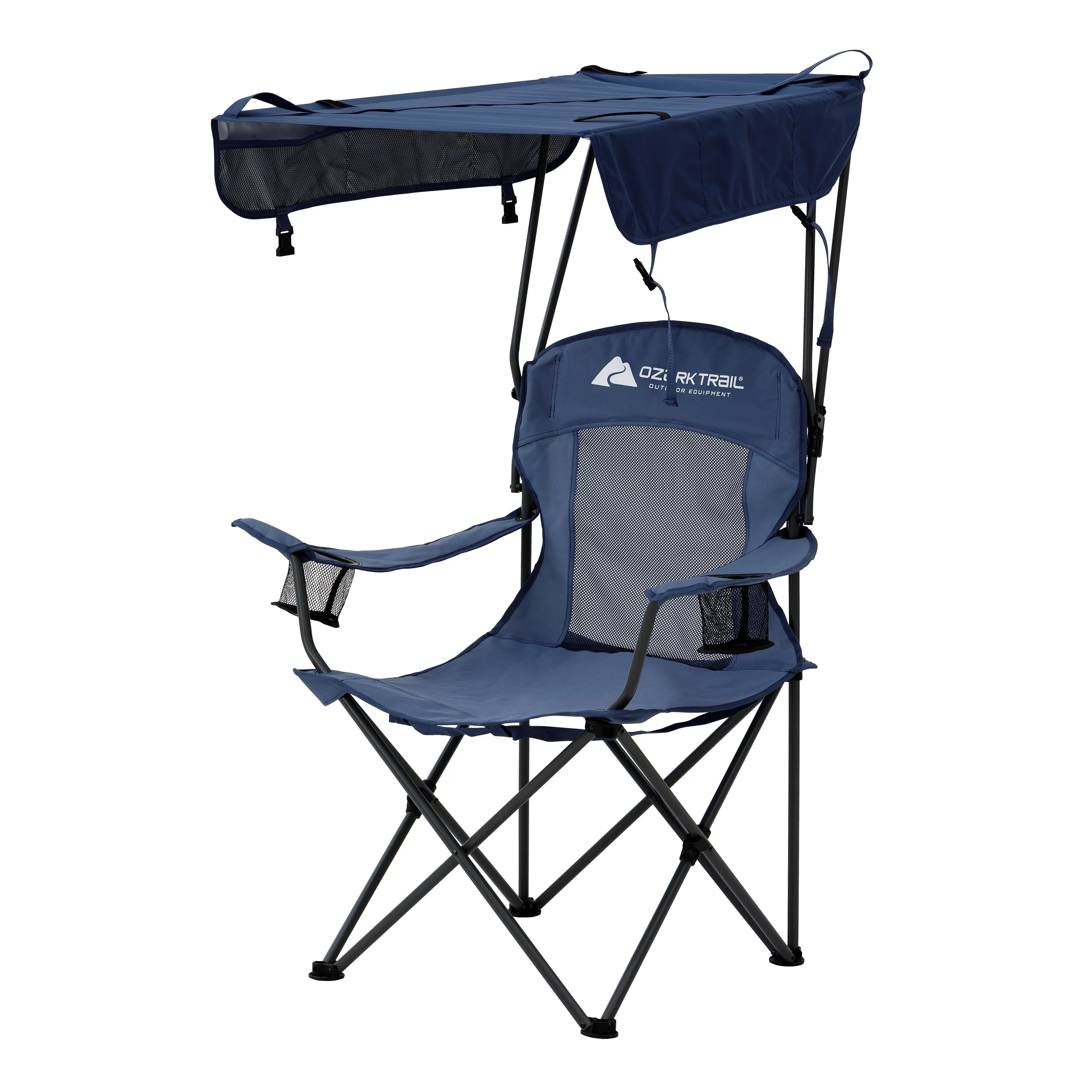 Fold Up Chair With Canopy Ozark Trail Sand Island Shaded Canopy Camping Chair With Cup Holders