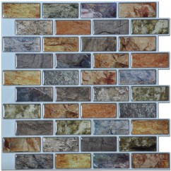 Stick On Backsplash Tiles For Kitchen Mid Level Cabinets Art3d 12 X Peel And Bathroom Walmart Com