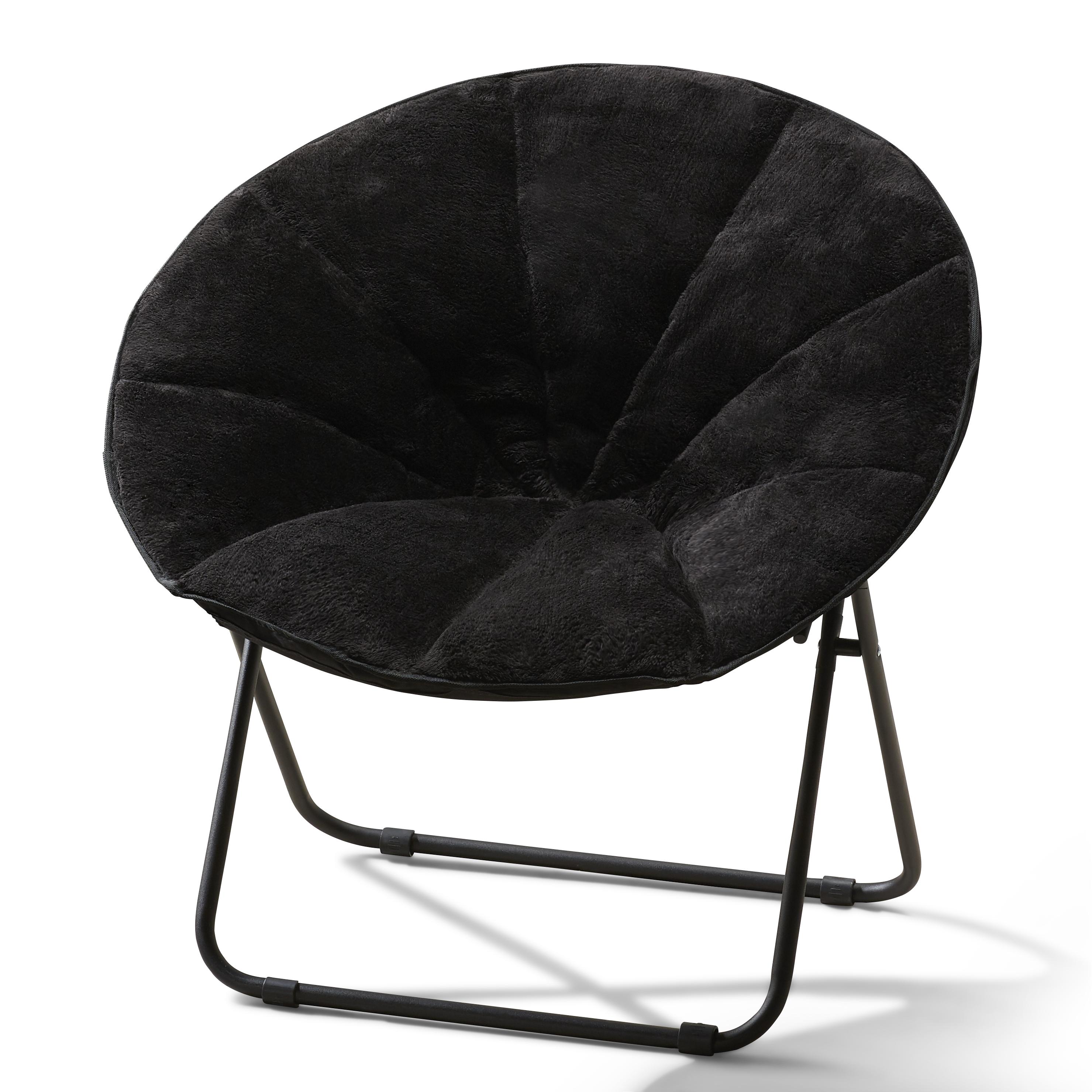 saucer chairs sam s club eames chair frasier mainstays folding plush multiple colors walmart com