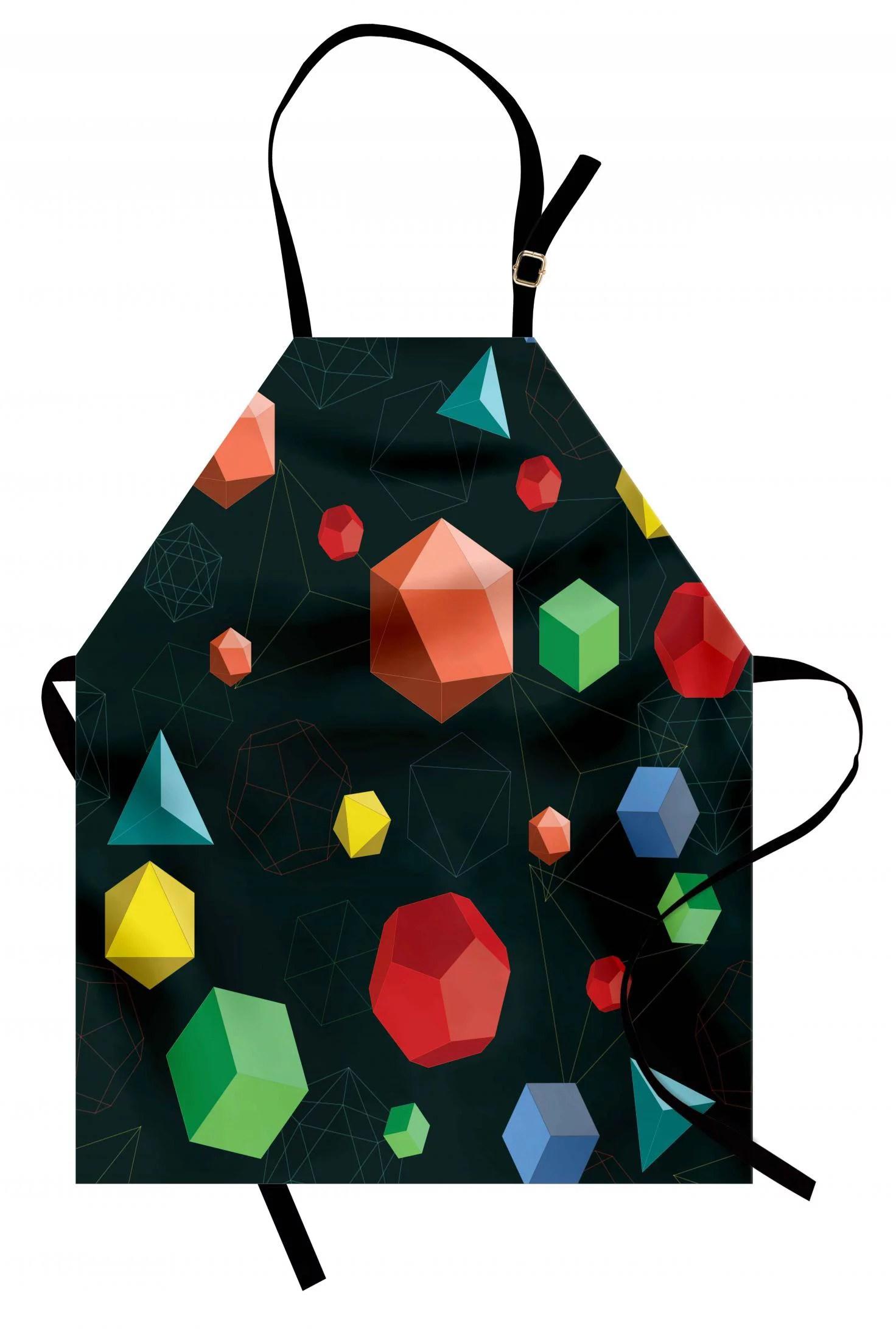 Geometric Apron Geometric 3d Styled Shapes In Vivid Colors