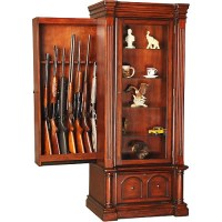American Furniture Classics Jamestown Curio Gun Cabinet ...