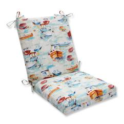 Wicker Chair Cushions With Ties Theater Room Chairs Clearance 36 5 Blue And Red Sailor S Pleasure Outdoor Patio Cushion