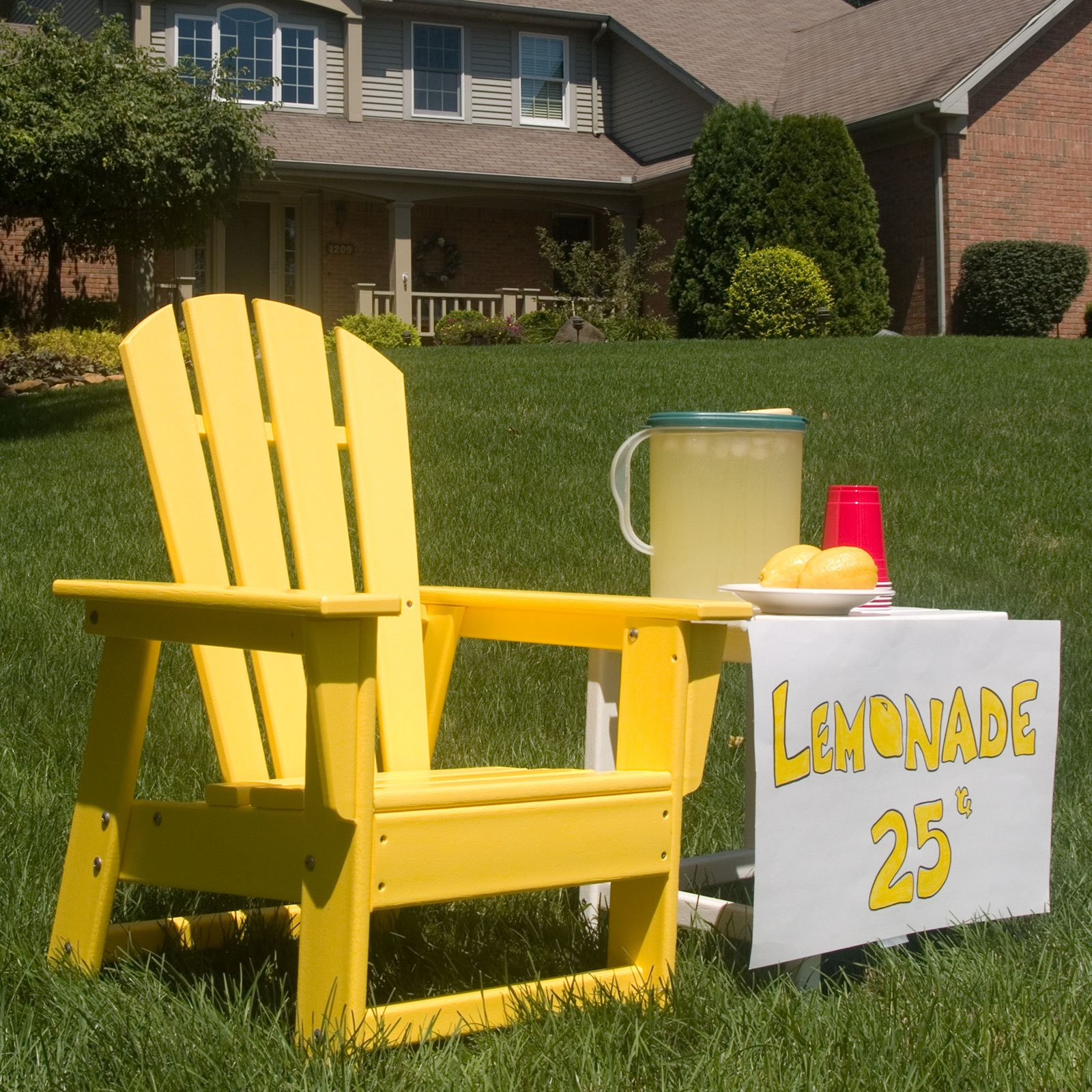 kids outdoor chair extra large polywood reg south beach recycled plastic adirondack walmart com