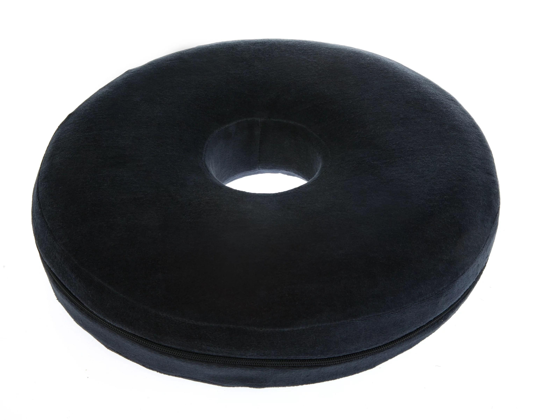 deluxe comfort therapeutic donut pillow 15 diameter memory foam ergonomic design coccydynia pain sciatic nerve pillow cushion blue