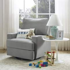 Glider Recliner Chair Pub Style Table And Chairs Baby Relax Rylan Swivel Gliding Gray Walmart Com