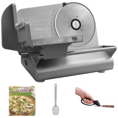 Kitchen Food Slicer Dark Cherry Cabinets Knox Kn Ssms Electric Meat Stainless Steel With Accessory Bundle