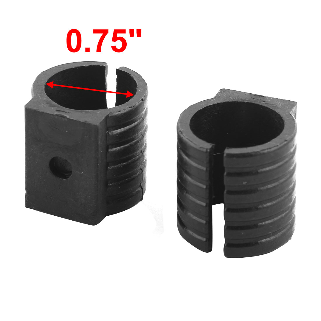 Chair Foot Caps Plastic U Shaped Chair Pipe Foot Clamp Pads Glides Caps Black 19mm Fit Dia 50pcs