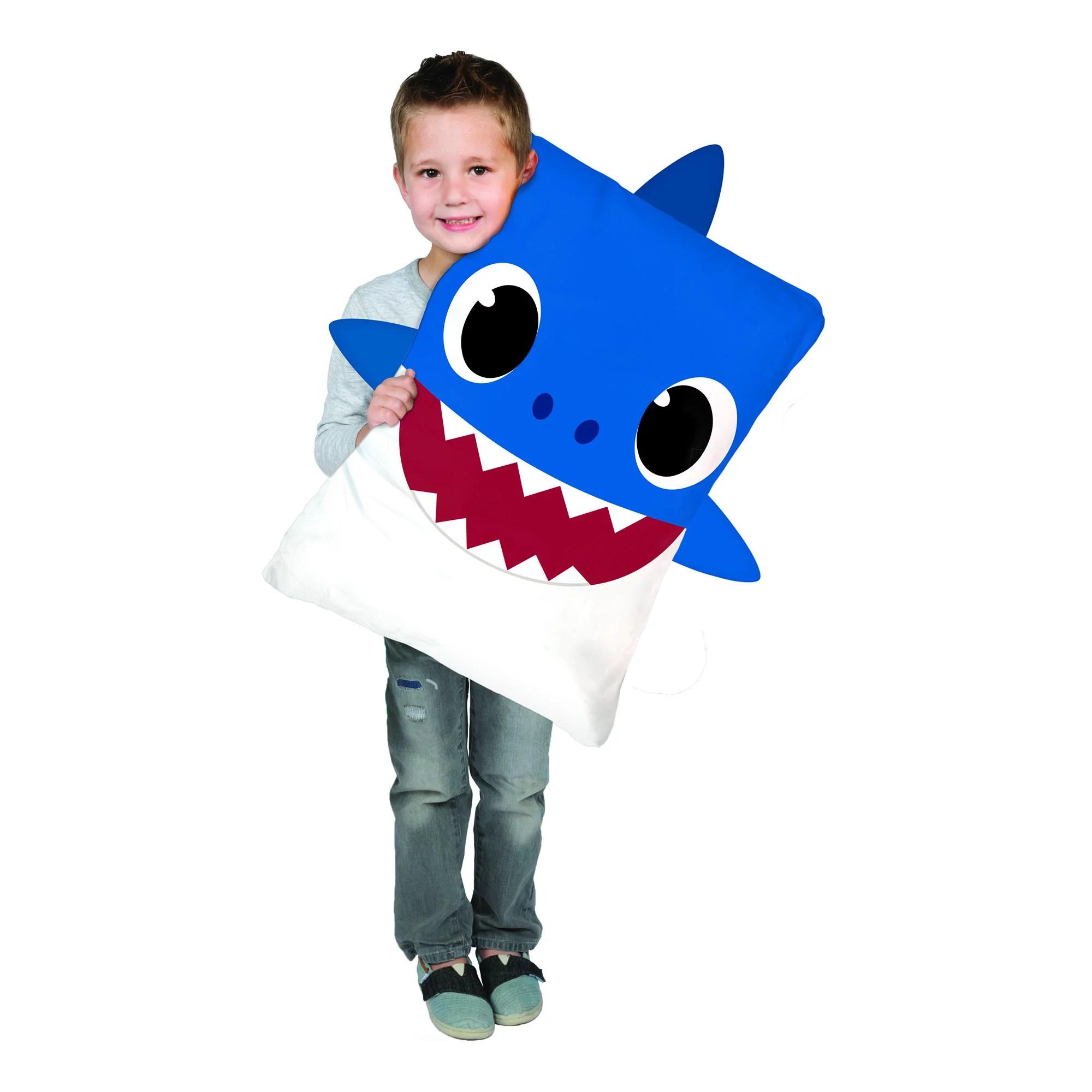 baby shark kids character bed pillow
