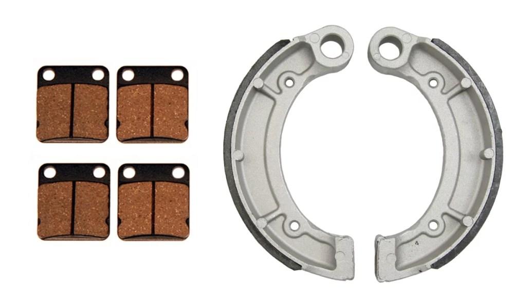 medium resolution of front brake pads rear brake shoes yamaha bruin 250 350 grizzly 350 big bear walmart com