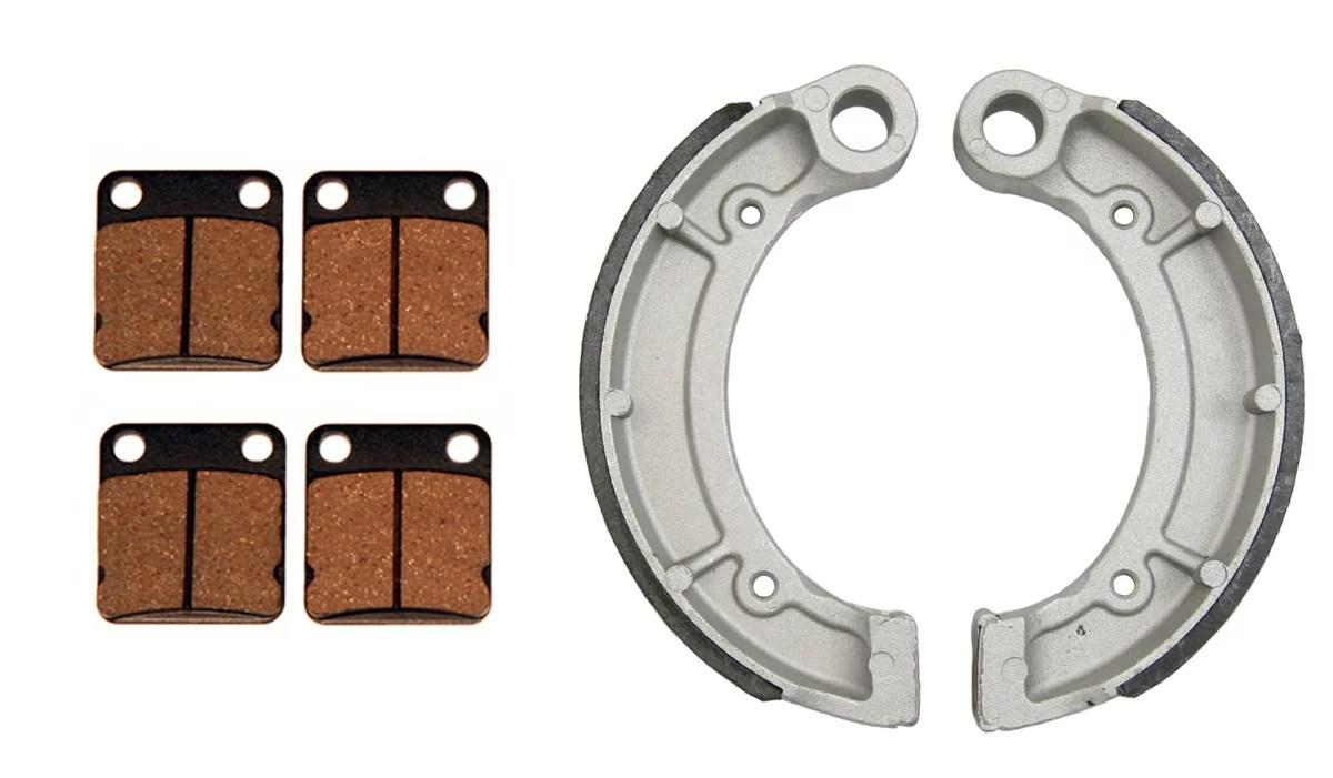 hight resolution of front brake pads rear brake shoes yamaha bruin 250 350 grizzly 350 big bear walmart com