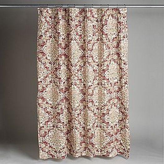 country living piccadilly pink rust medallion fabric shower curtain bath