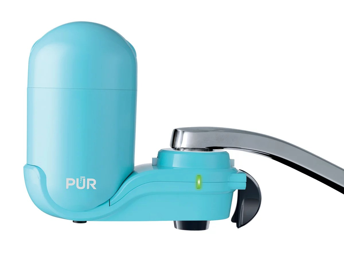 pur faucet water filter system fm2700g sea glass