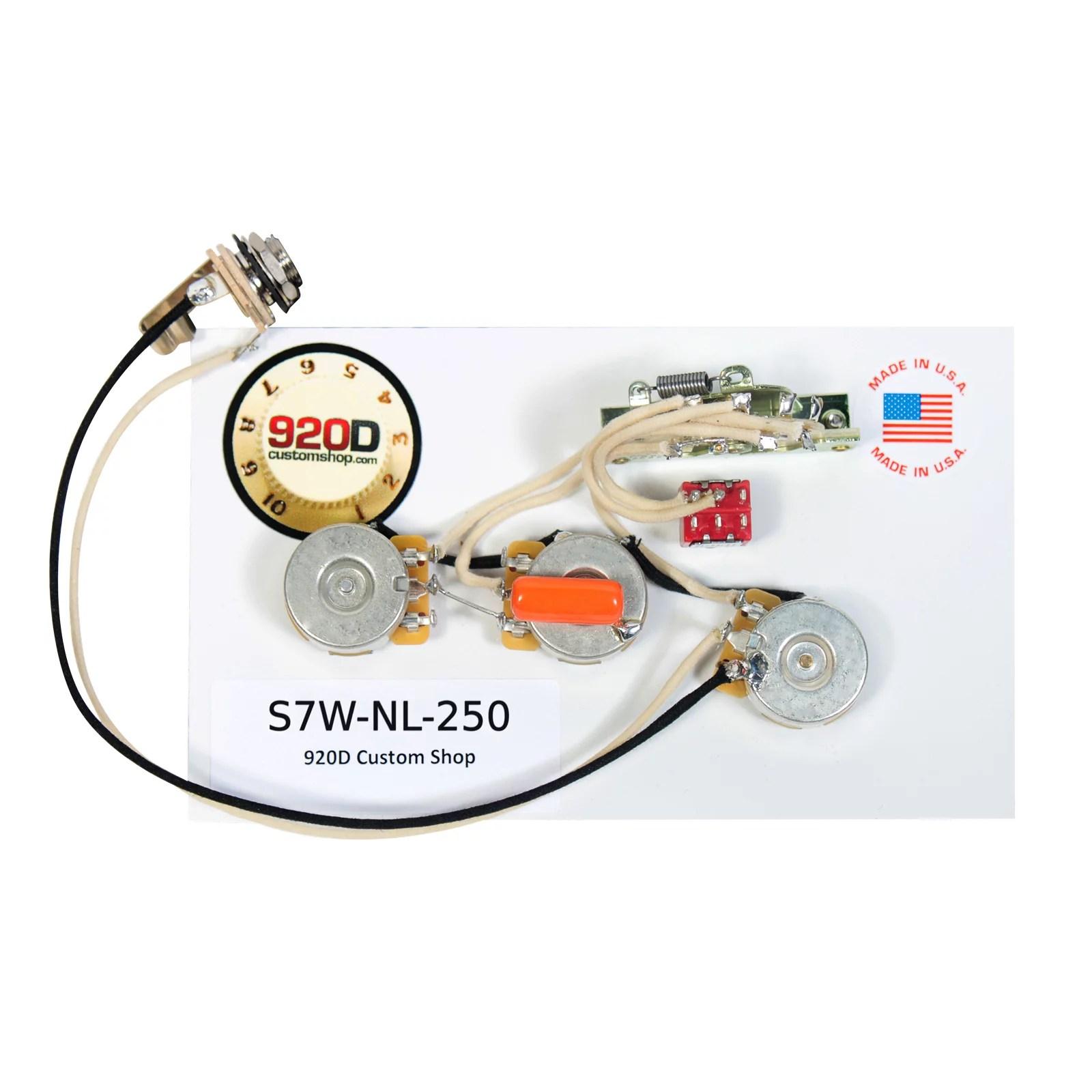 small resolution of fender strat 7 way wiring kit w 2 no load 250k 022 f cap fender esquire wiring kit fender wiring kit