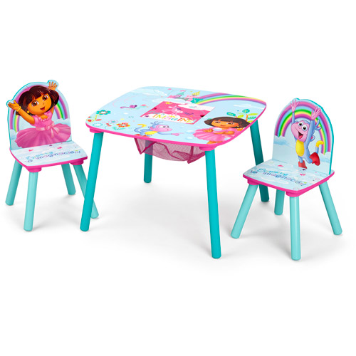 tables and chairs for toddlers high chair baby boy toddler walmart com product image nick jr dora the explorer wood kids storage table set by delta children