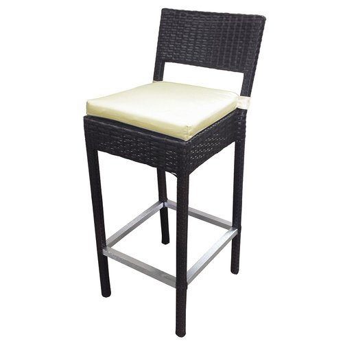woven outdoor chair high pads for wooden chairs preston wicker bar stool walmart com