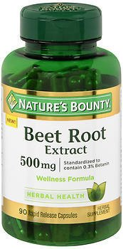 Nature's Bounty Beet Root Extract 500 Mg Rapid Release ...
