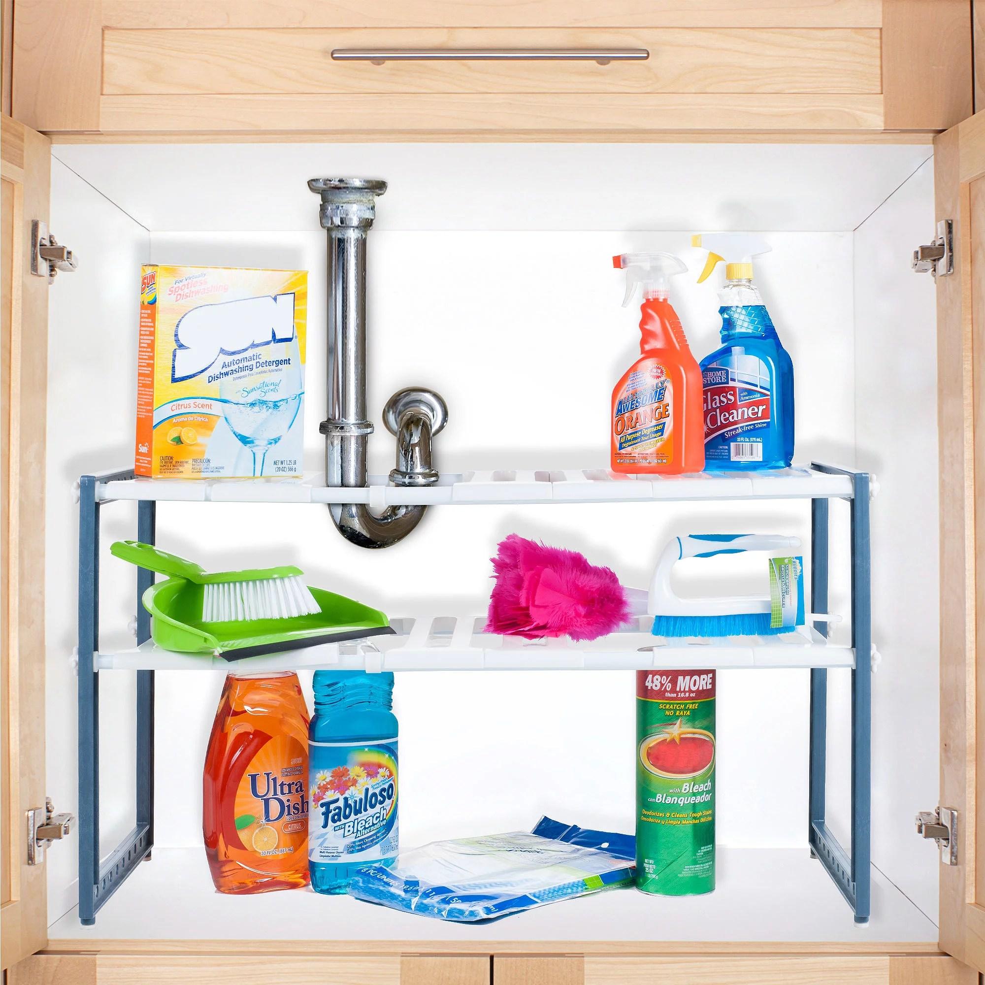Home Basics 5 Piece Cabinet Organizer Walmart Com