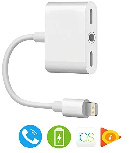 iPhone 7 Adapter. iPhone 8 Headphone Adapter【Support iOS 11 and Before】 Music & Call & Charge Adapter. Dual Lightning + 3.5 mm Audio Jack ...